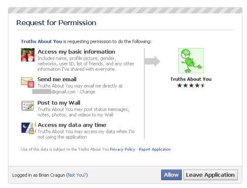 Facebook Application permissions