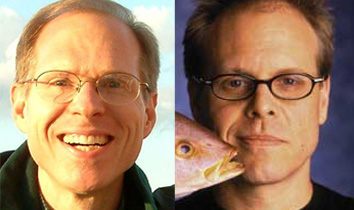 Brian Cragun (left) and Alton Brown (right)